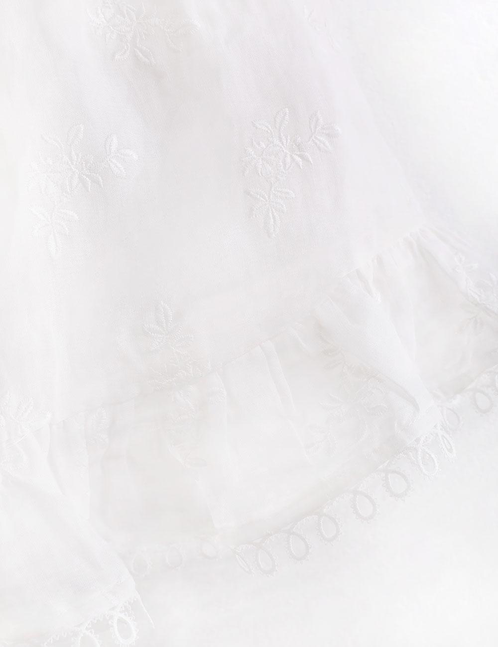 Verity Shirred Tie Dress