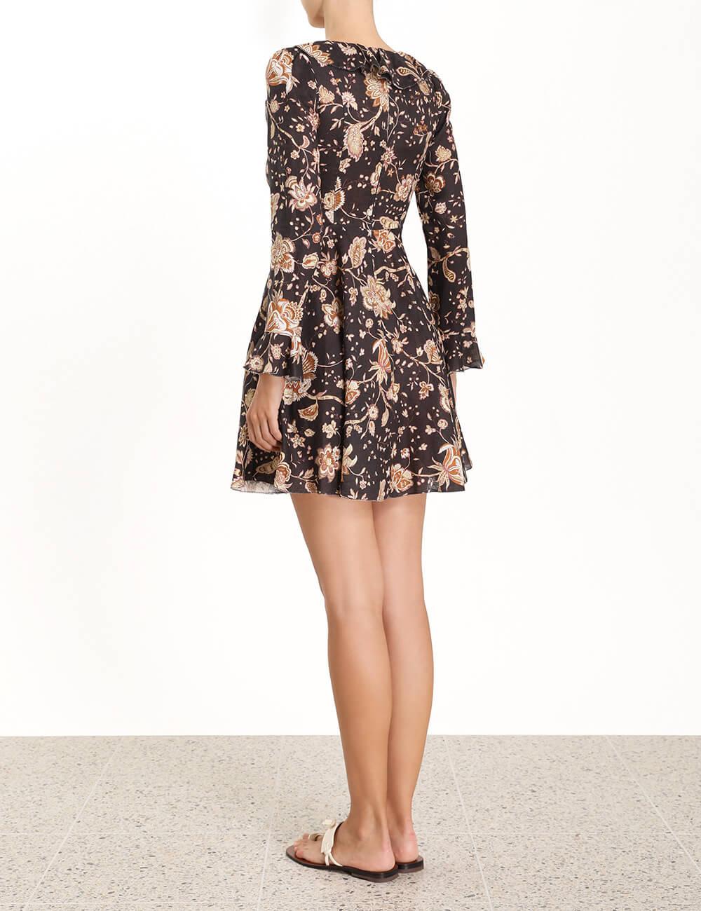 Veneto Plunge Short Dress