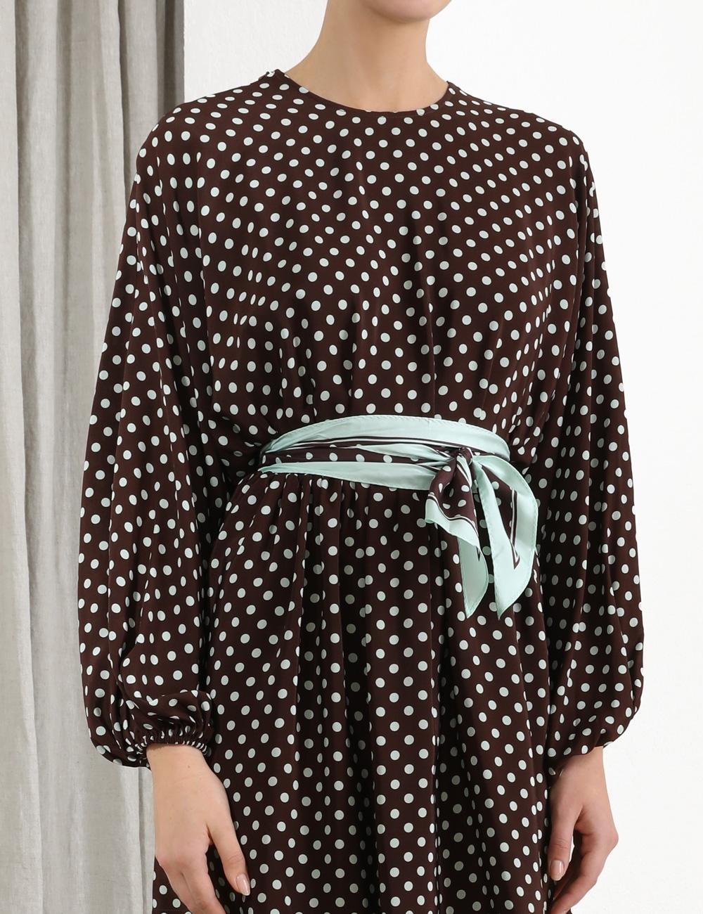 Espionage Silk Batwing Dress