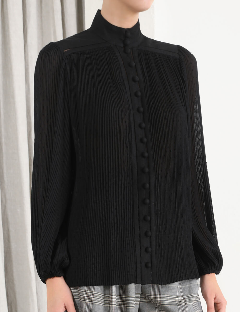 Espionage Plisse Blouse