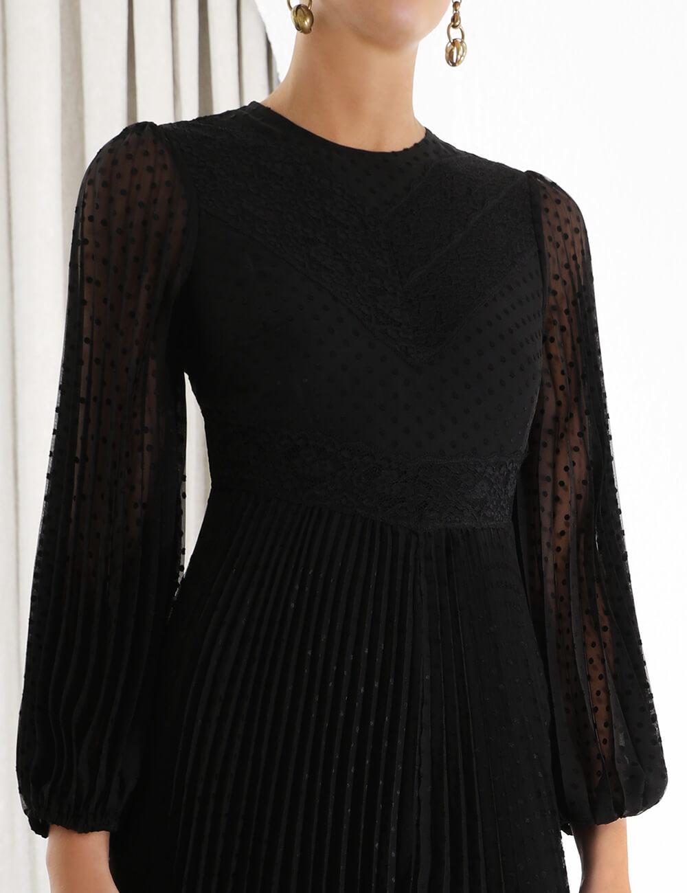 Espionage Lace Panelled Dress