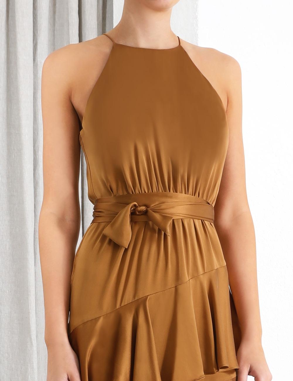 Espionage Silk Picnic Dress