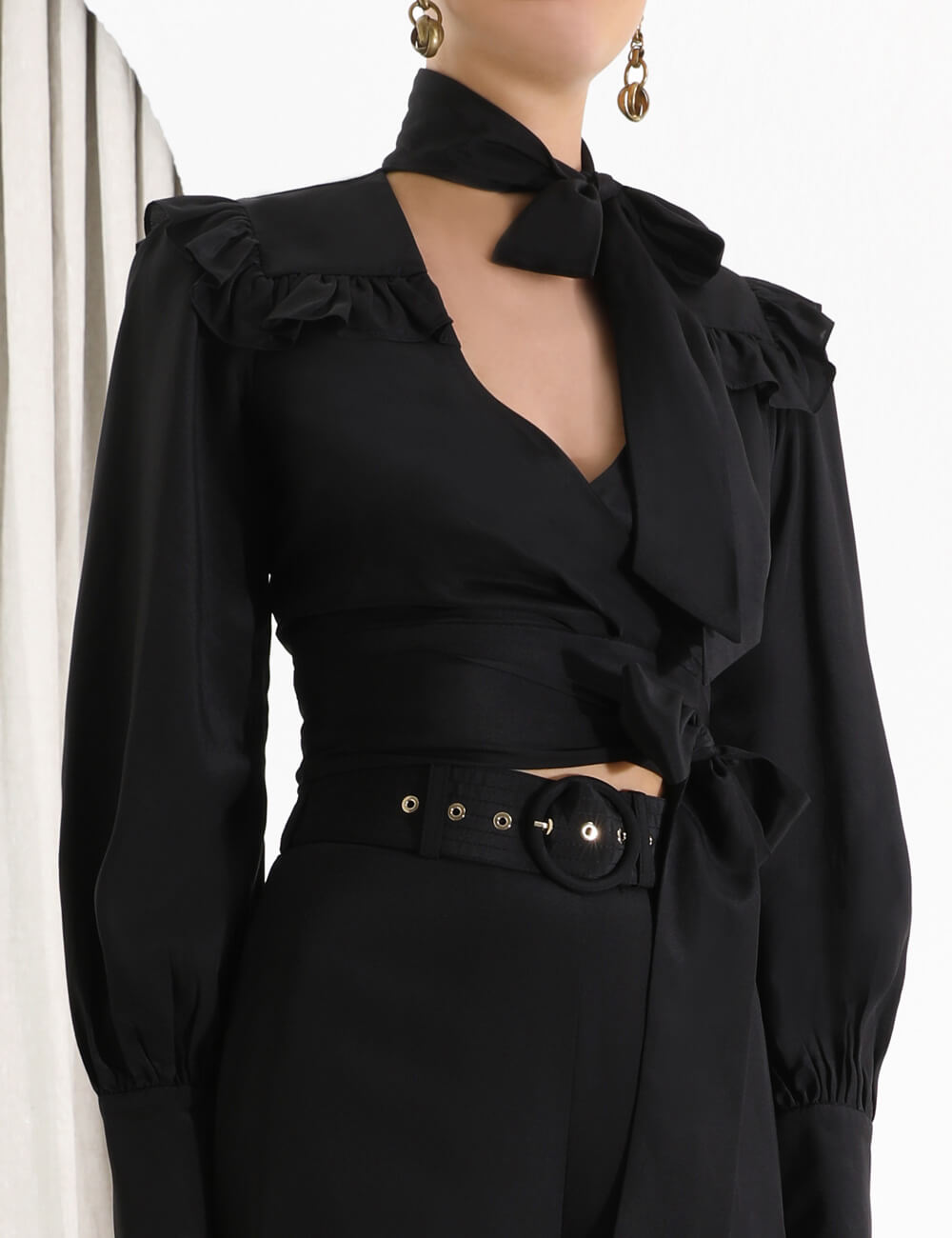 Espionage Wrap Top