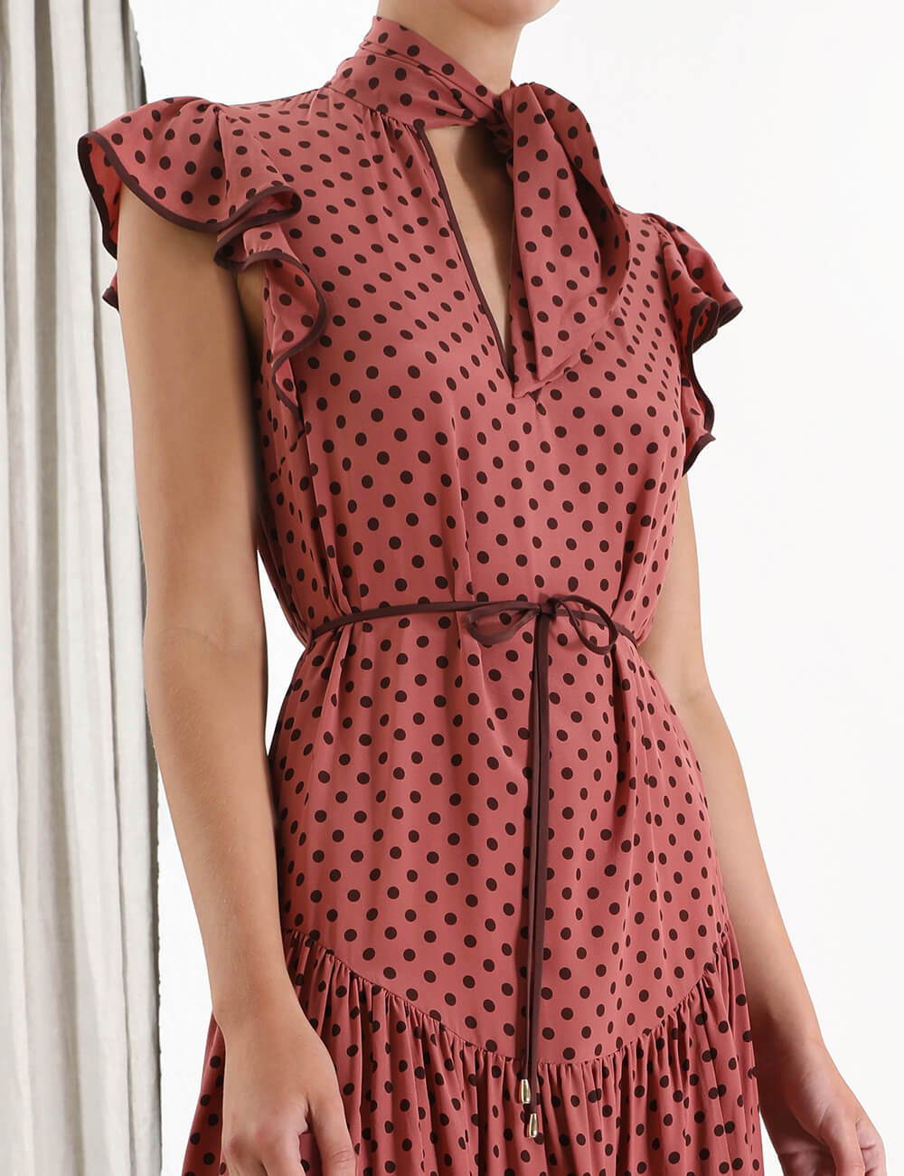 Espionage Silk Flutter Dress