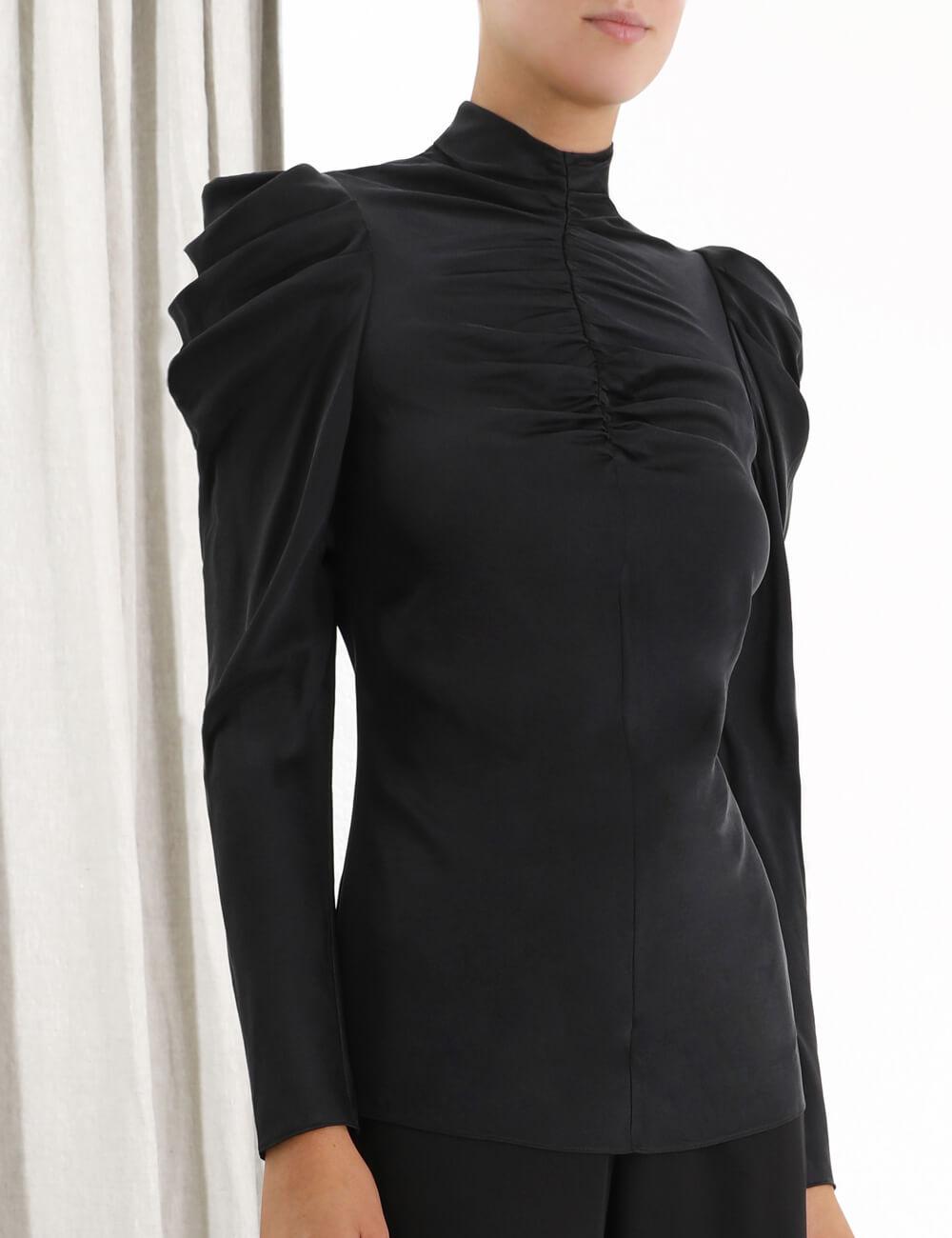 Espionage Silk Drape Top