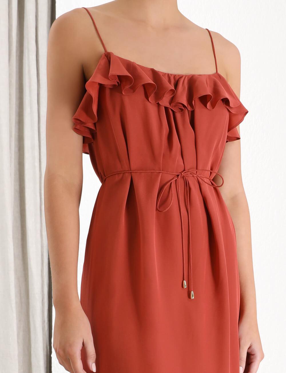 Espionage Silk Frill Dress