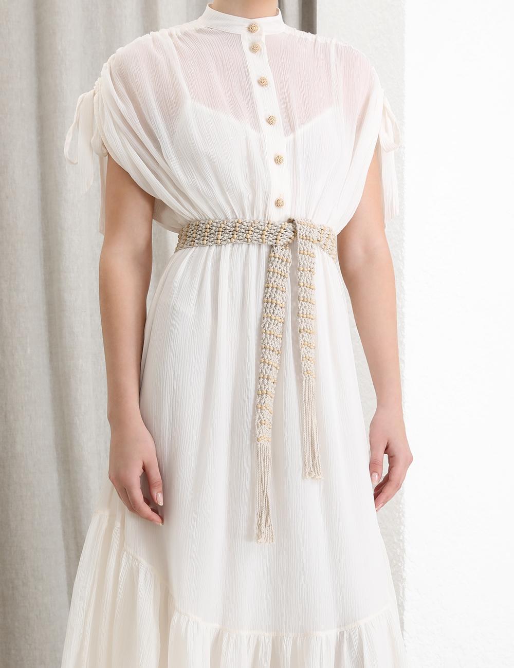 Freja Tie Shoulder Shirt Dress
