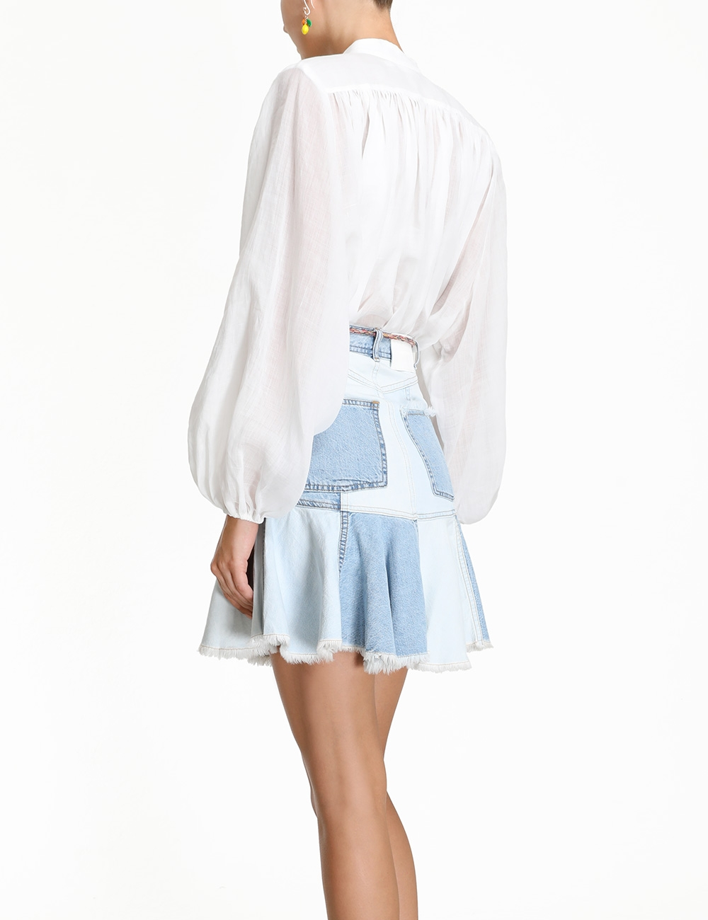 Edie Patchwork Denim Skirt