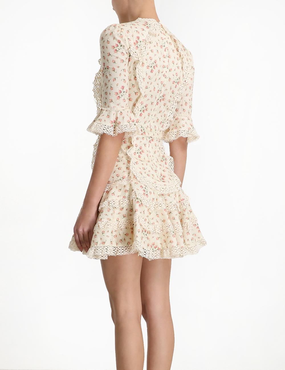 Freja Trim Flutter Dress