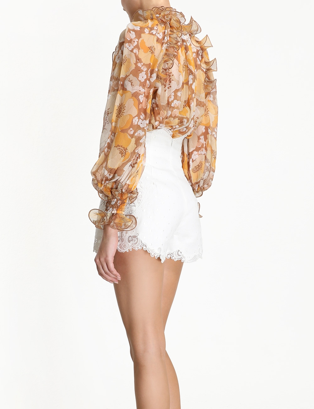 Super Eight Ruffled Blouse