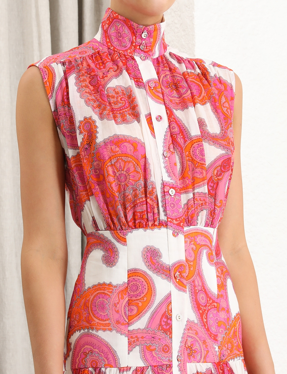 Peggy Sleeveless Shirt Dress