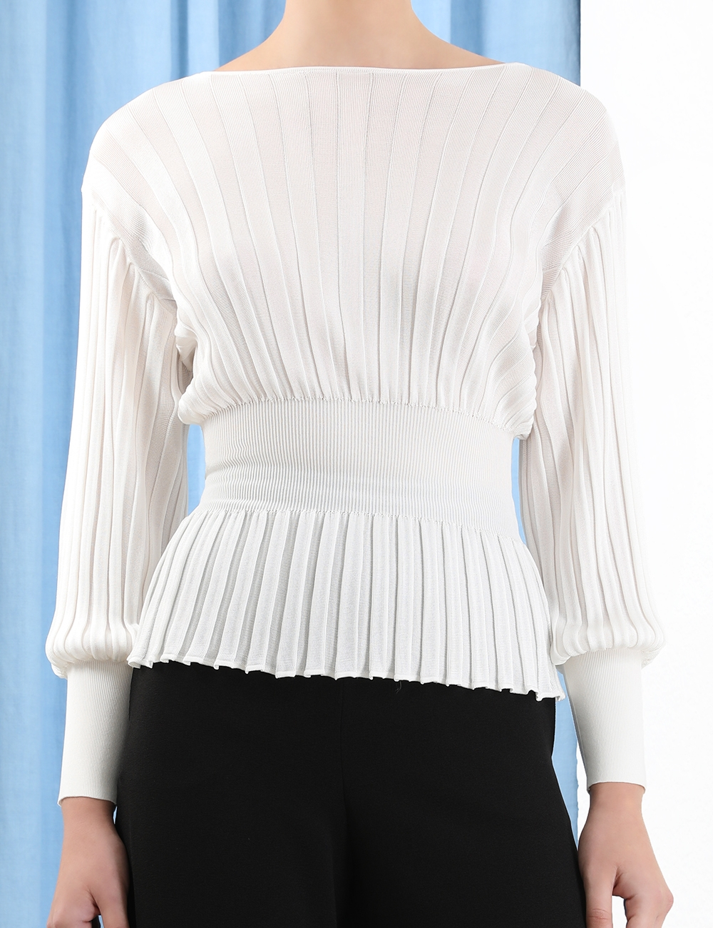 Fluid Bell Sleeve Knit