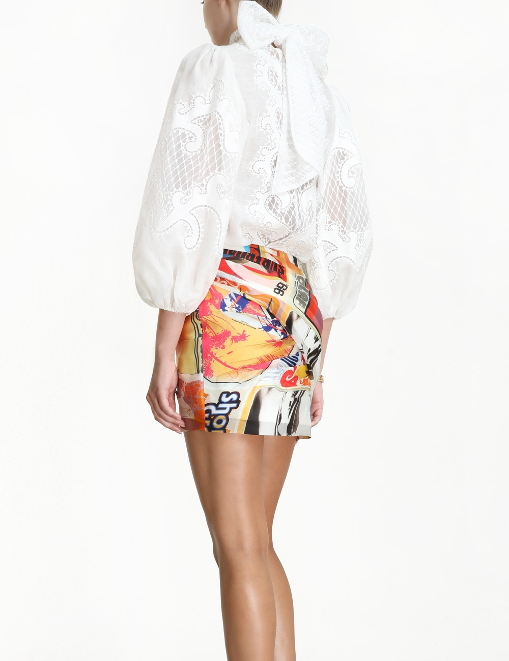 Brightside Wrap Mini Skirt