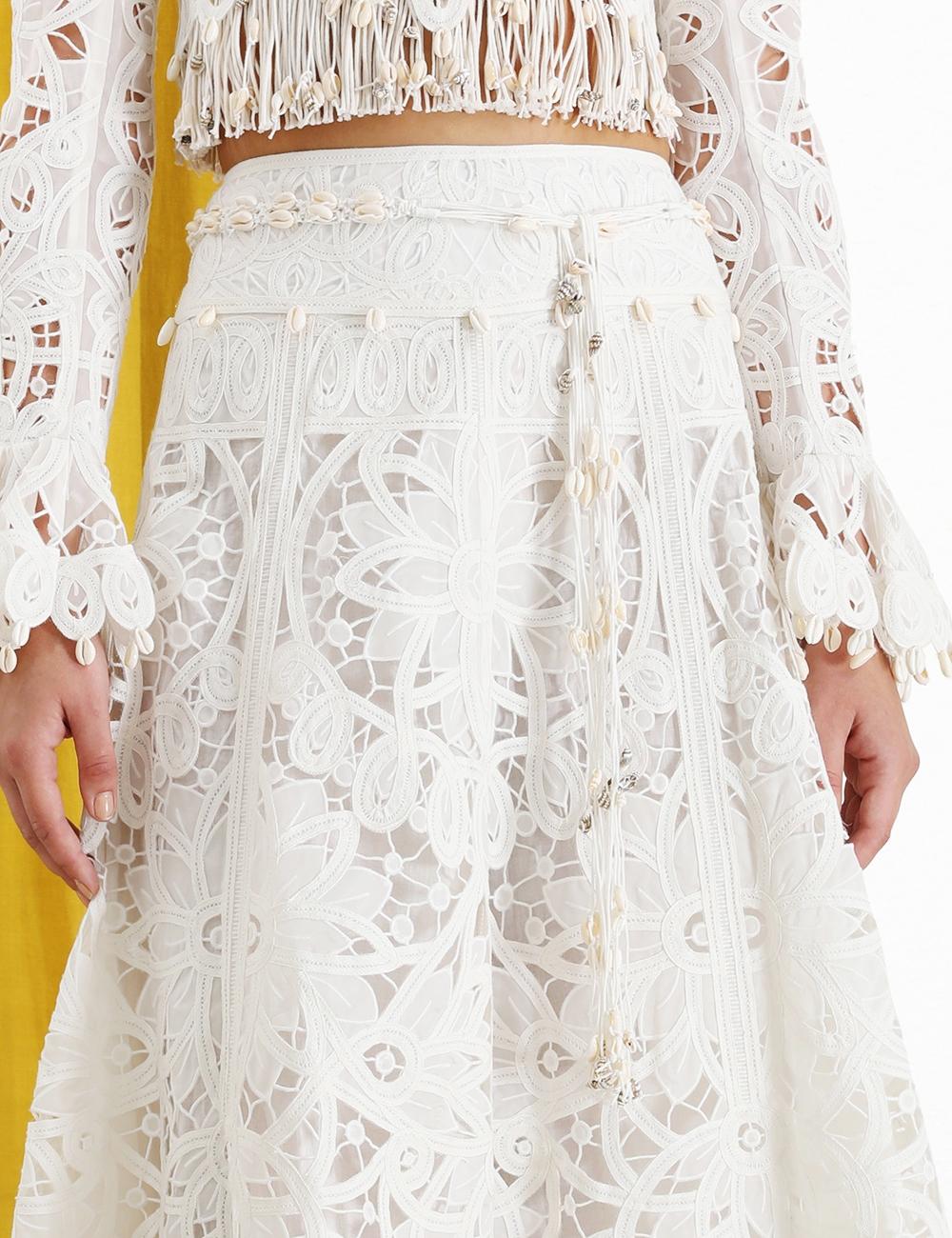 Wavelength Tape Flared Skirt