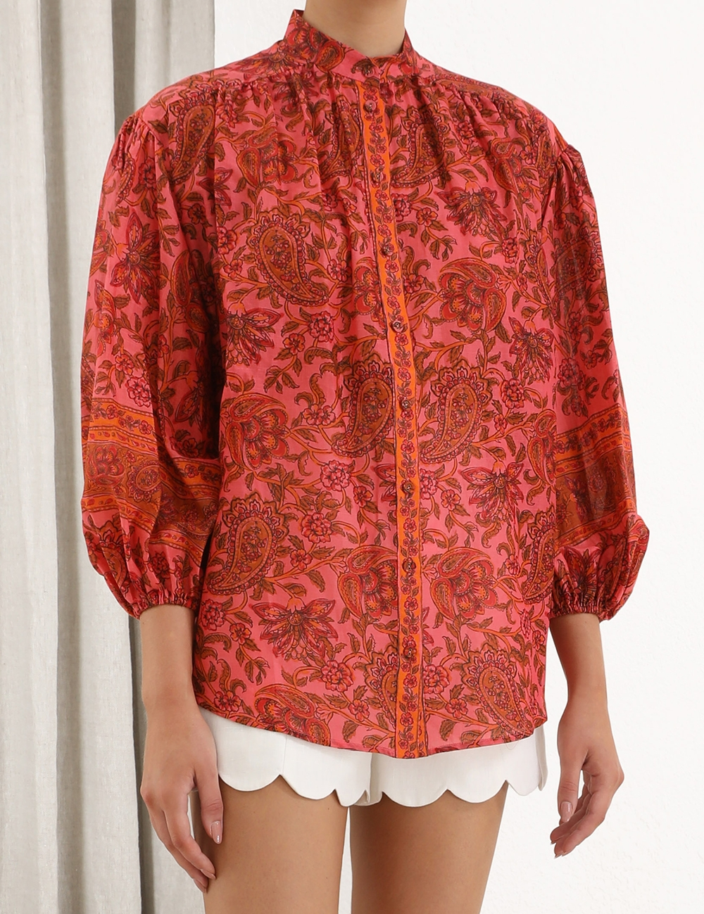 Edie Button Blouse