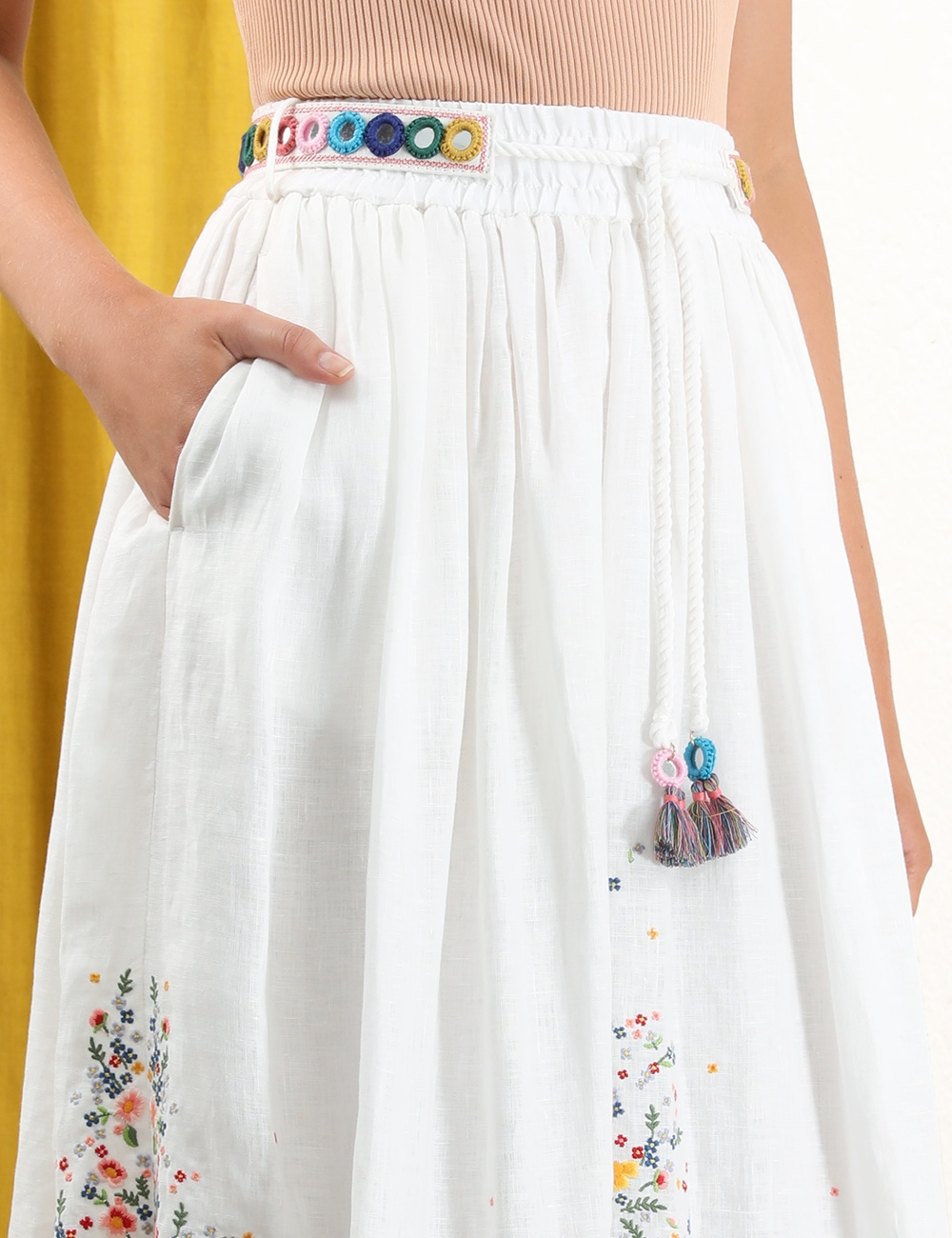 Carnaby Embroidered Bird Skirt