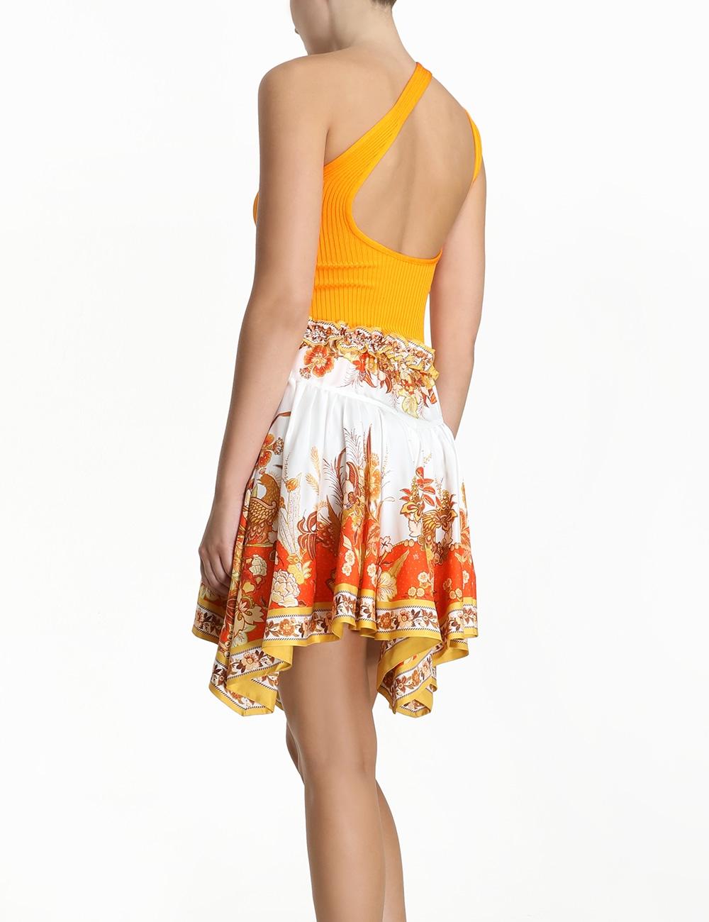 Brightside Angled Hem Skirt