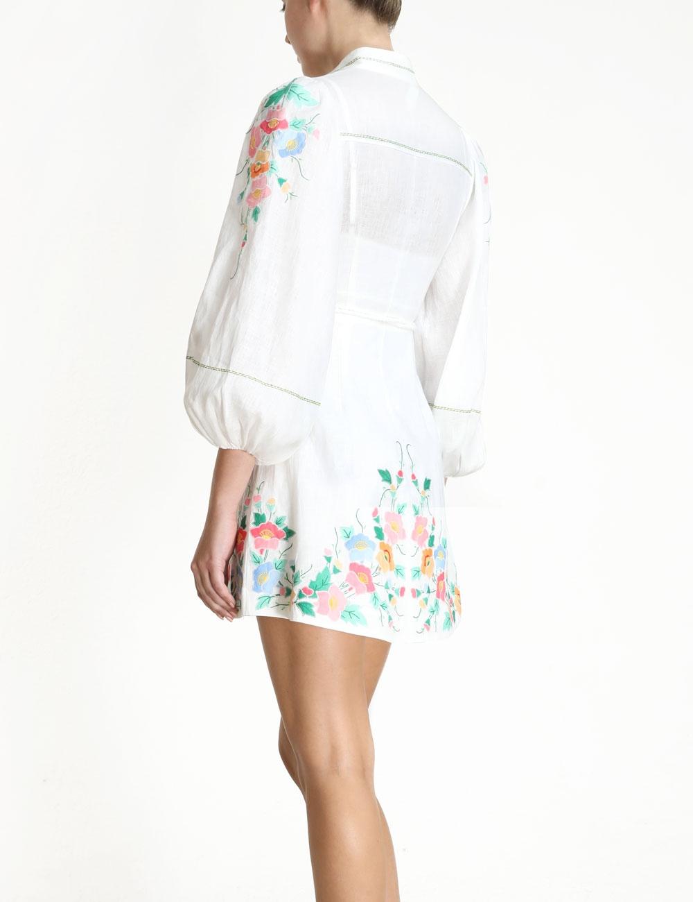 Fiesta Applique Short Dress