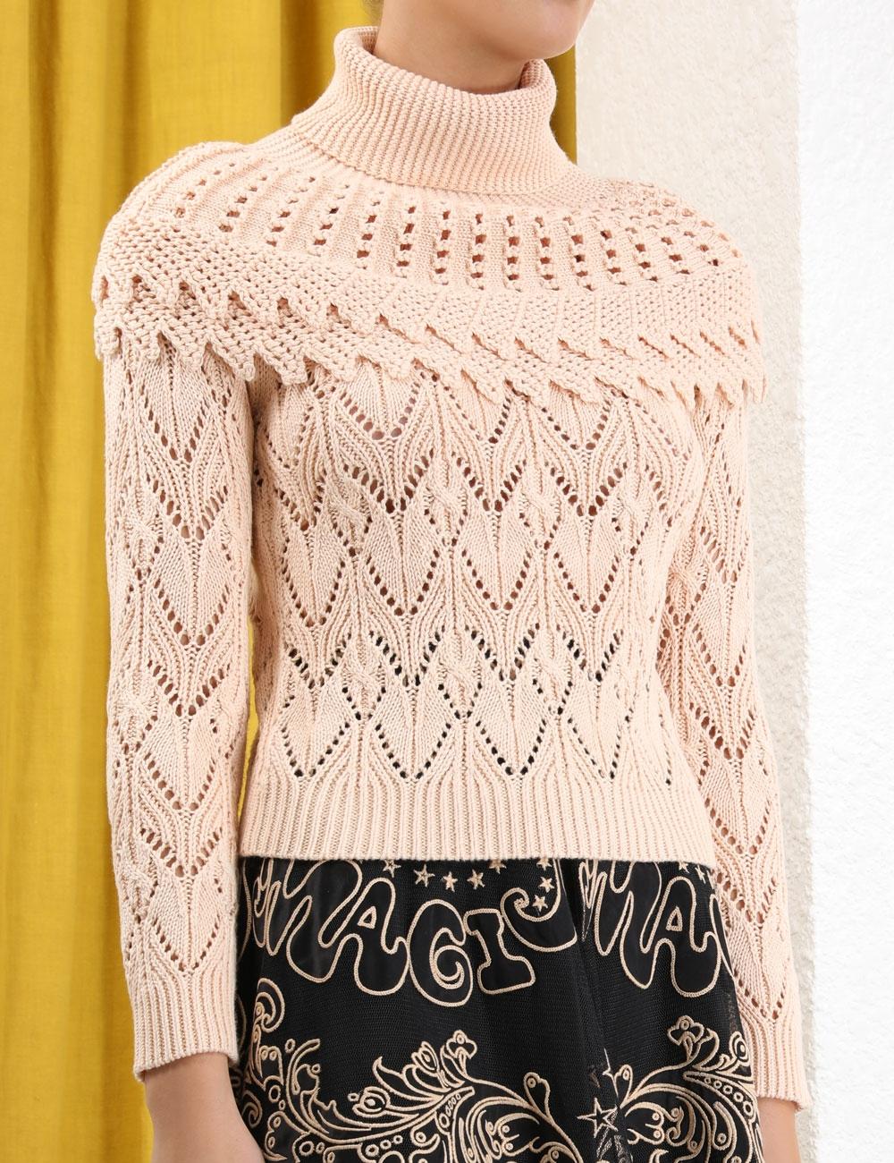 Ladybeetle Ruffle Yoke Sweater