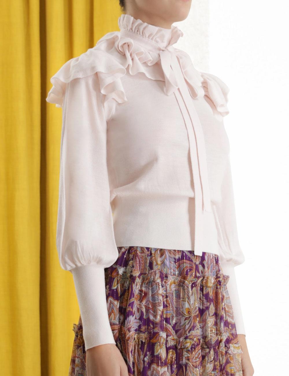 Ladybeetle Frilled Yoke Knit