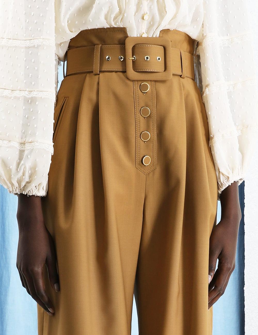 Ladybeetle Buttoned Wide Leg