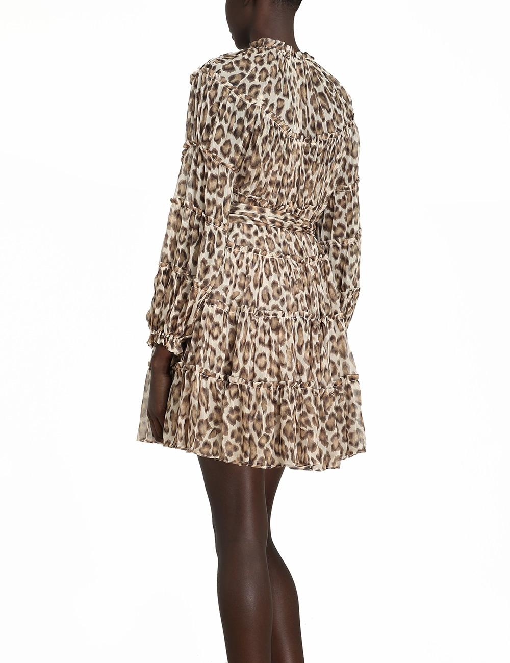 Ladybeetle Tiered Mini Dress
