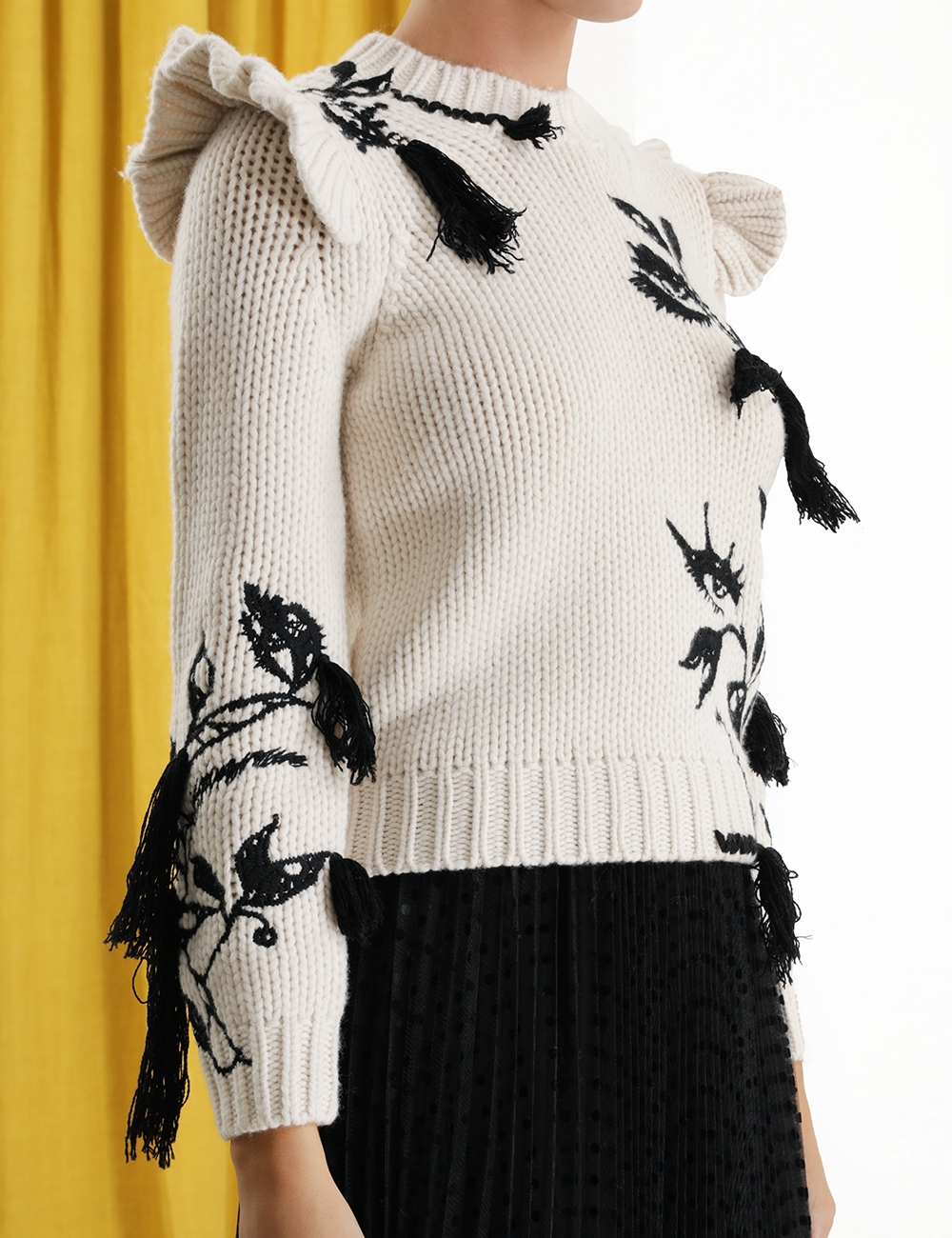 Ladybeetle Frill Sweater