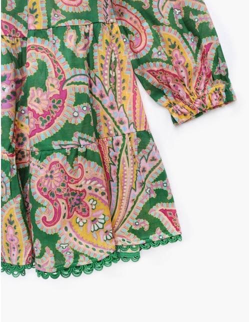 Teddy Long Sleeve Tiered Dress