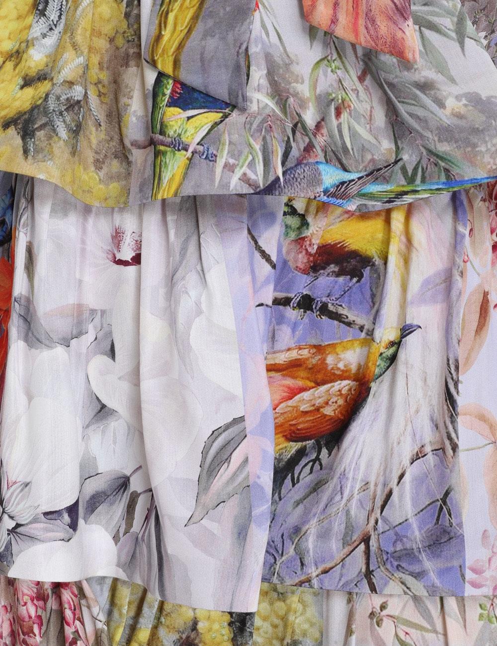 Luminous Tiered Collage Midi