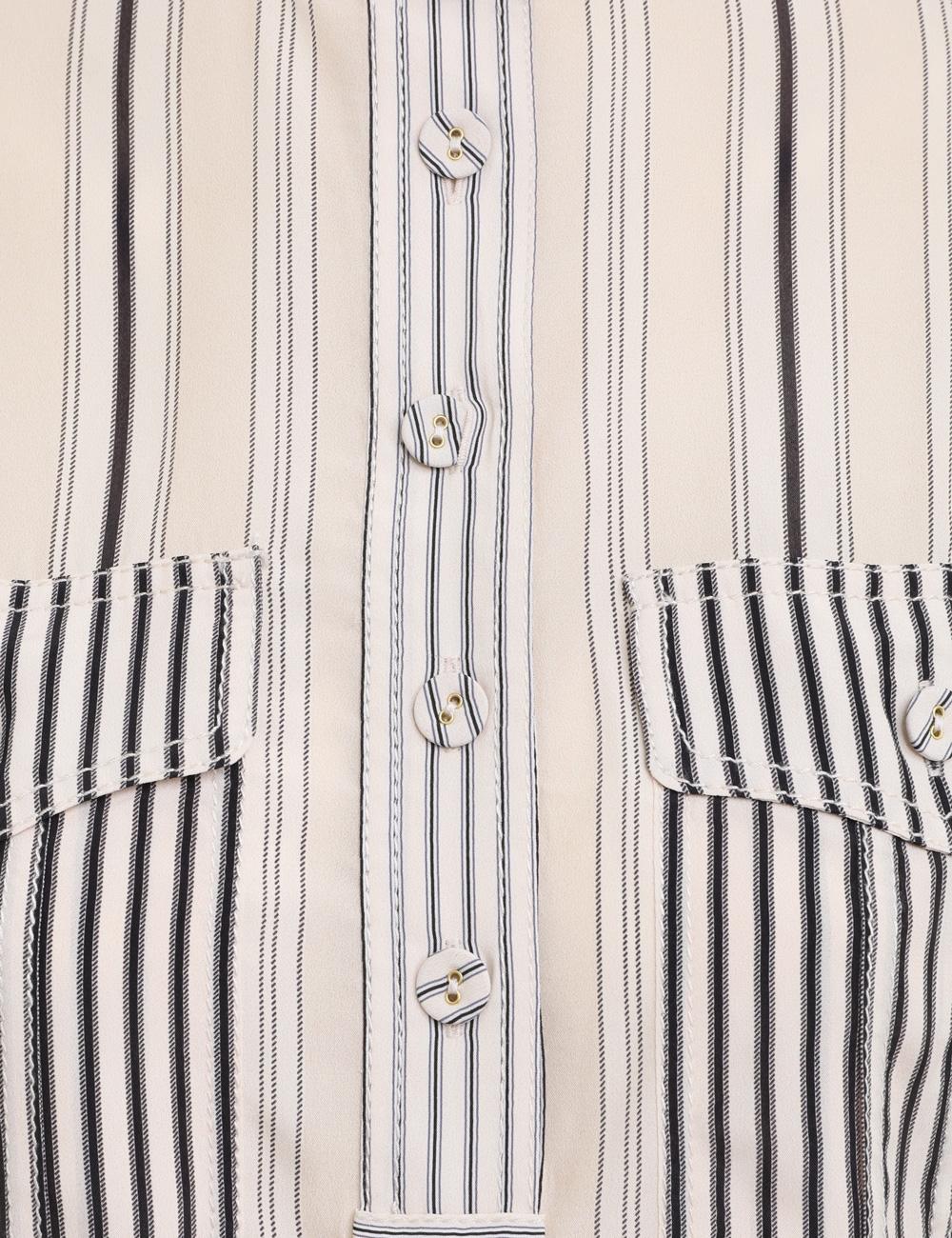 Ticking Stripe Short Sleeve