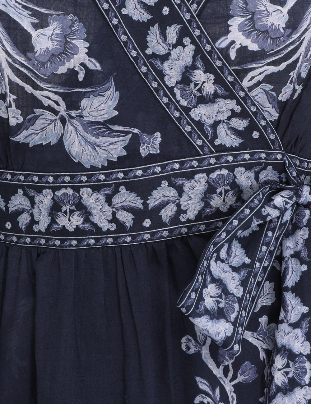 Aliane Frill Wrap Mini Dress