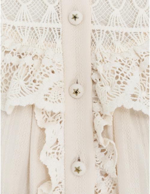 Tempo Crochet Trim Blouse