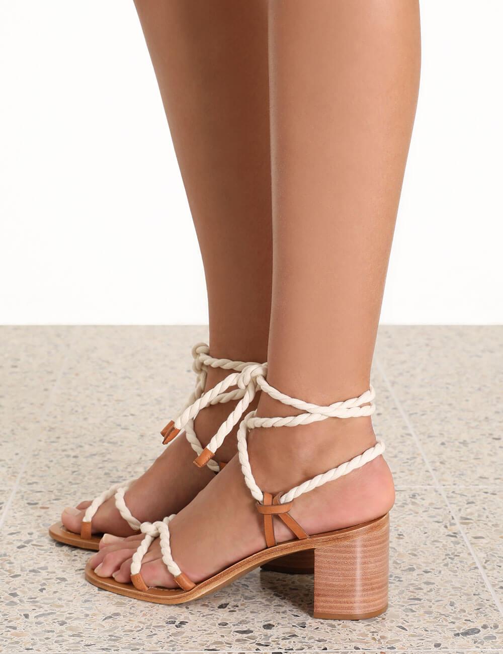 Rope Tie Mid Heel