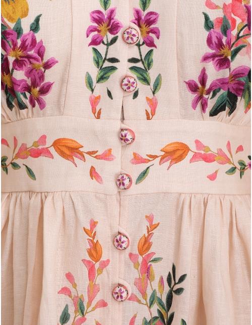 Tropicana Plunge Mini Dress