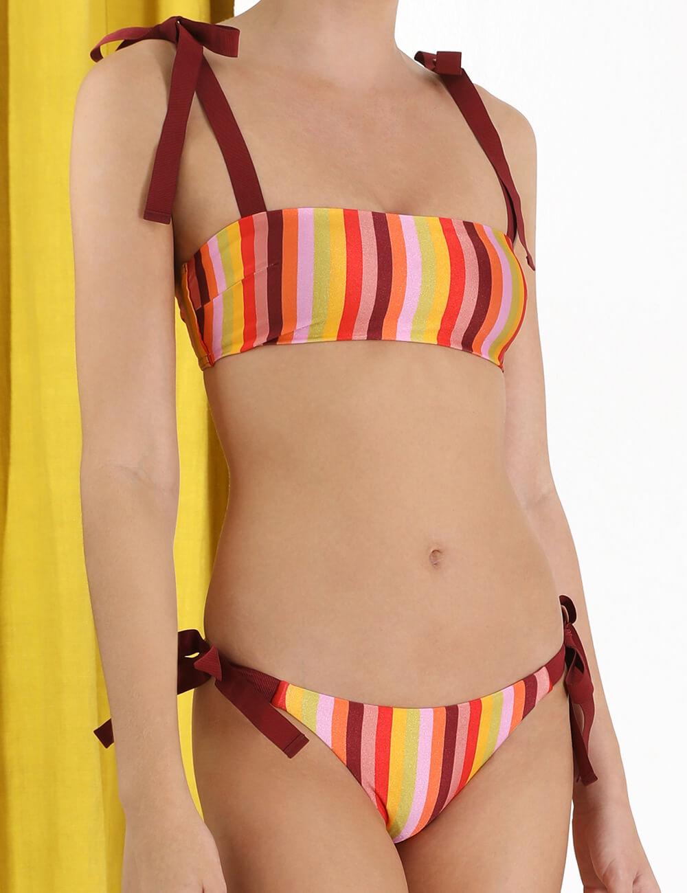 Goldie Rainbow Bandeau Bikini