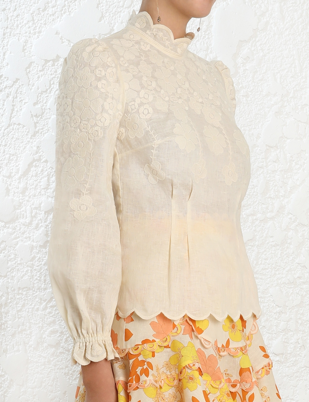 Primrose Embroidered Top
