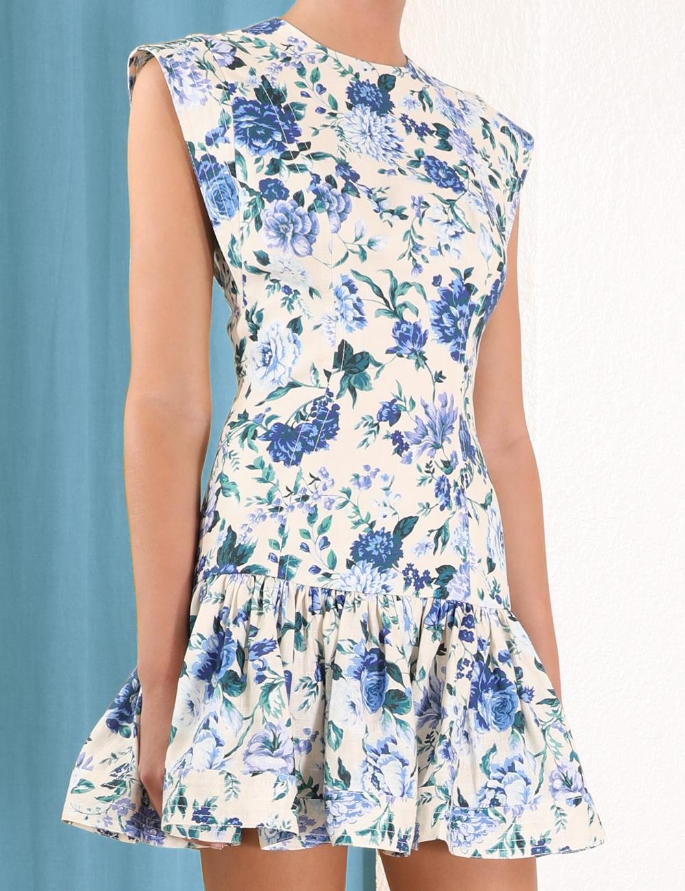 Moncur Flounce Short Dress