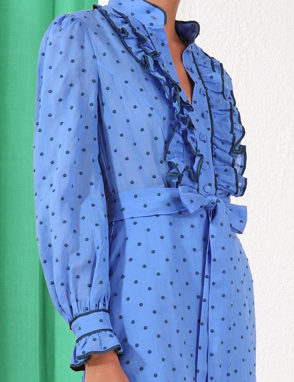 Moncur Ruffle Shirt Dress