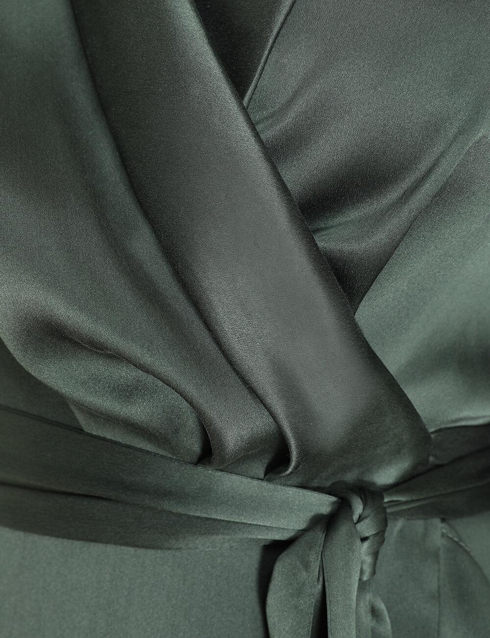 Espionage Silk Wrap Midi