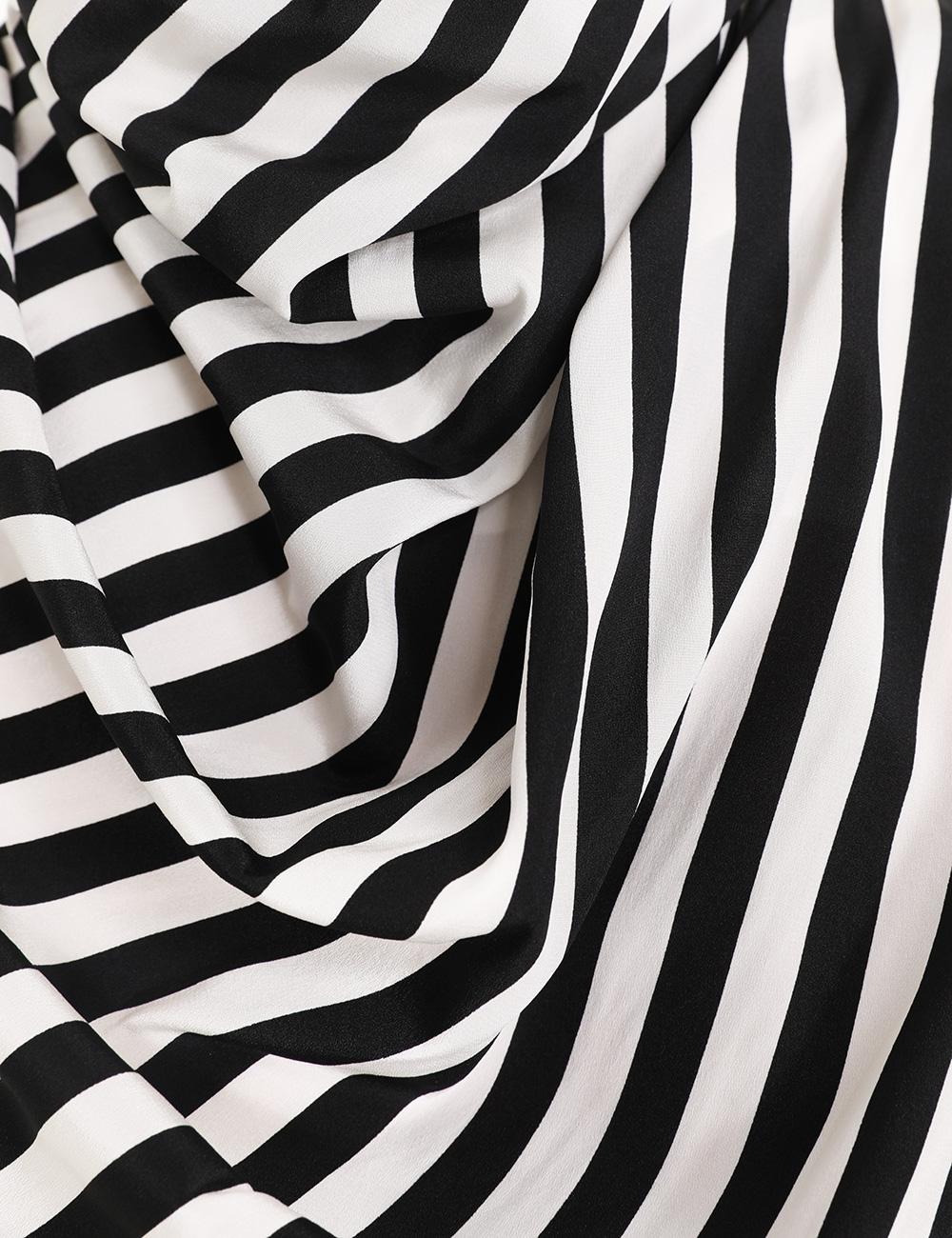 Zippy Stripe Cowl Blouse
