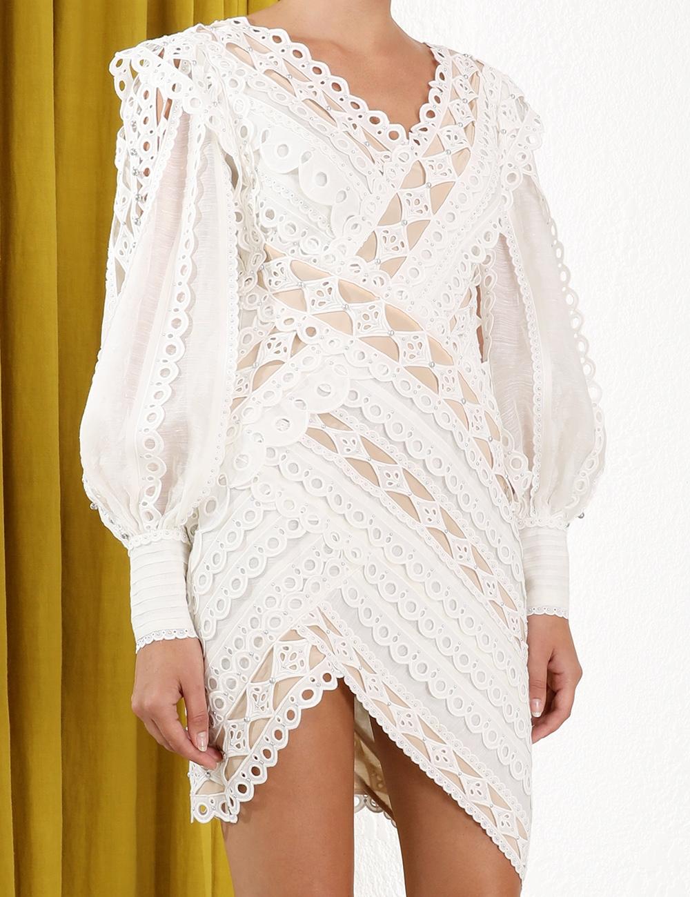 Moncur Studded Mini Dress