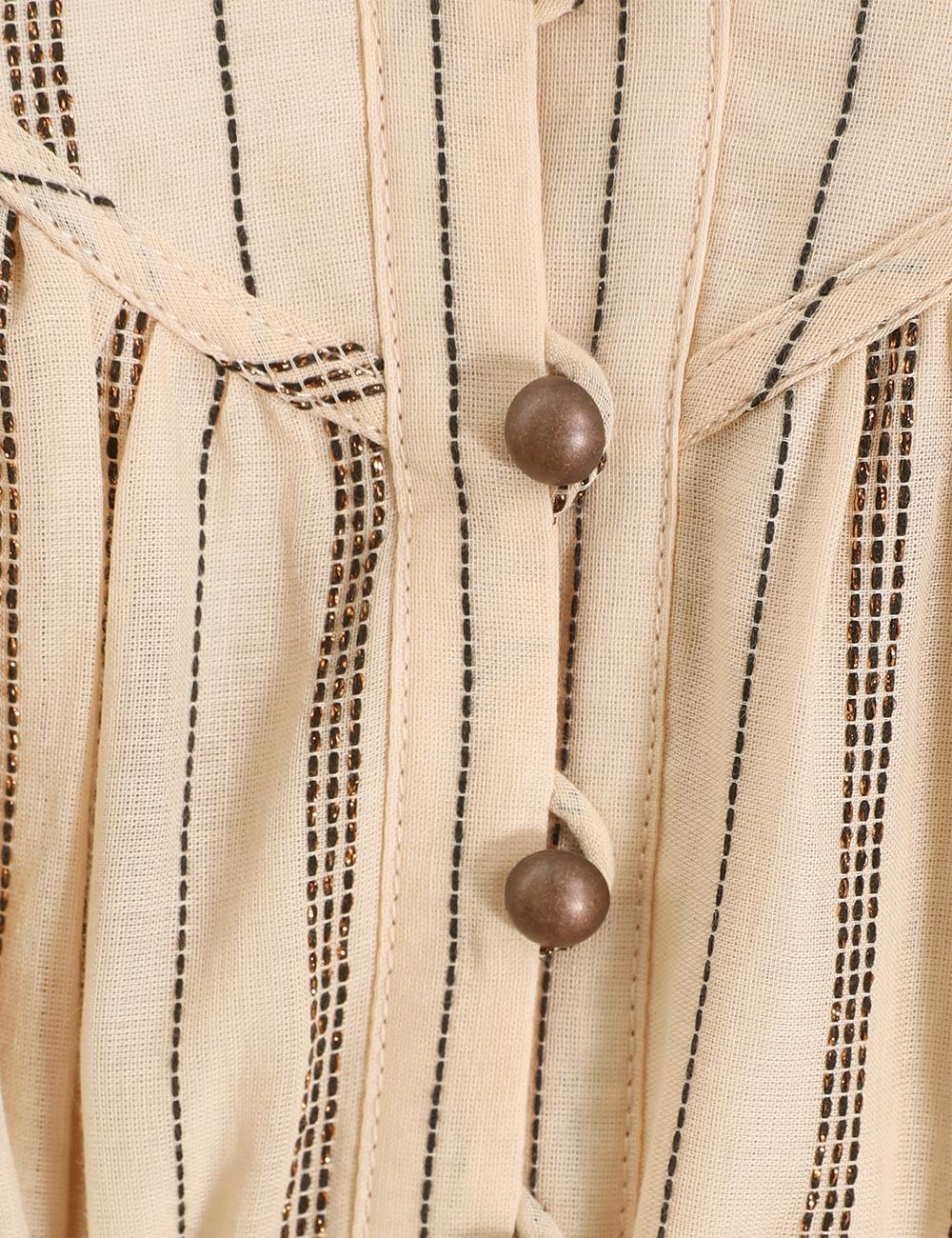 Suraya Bronze Stripe Tie Dress