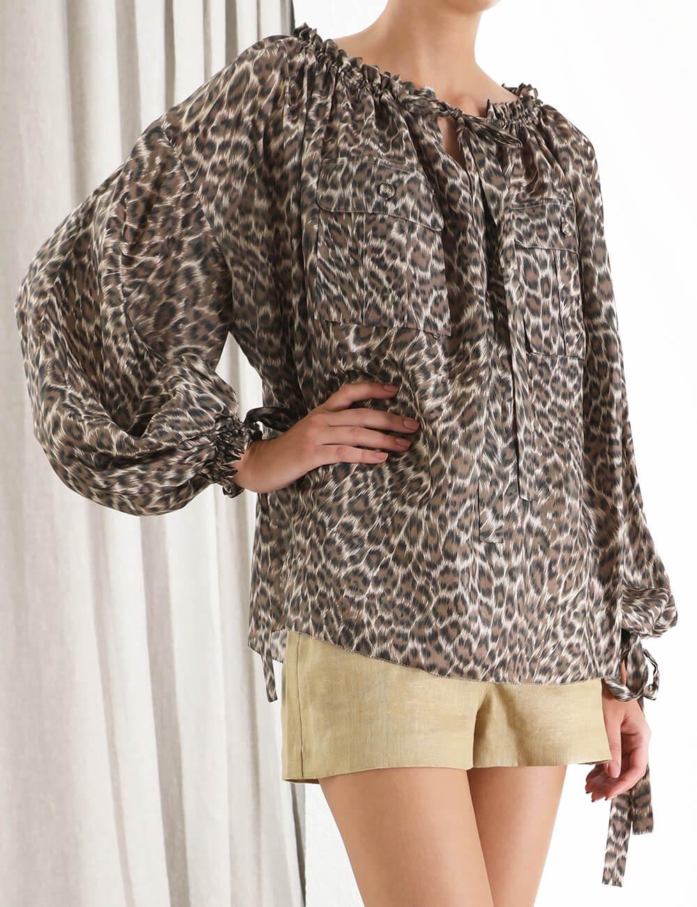 Suraya Silk Pocket Top