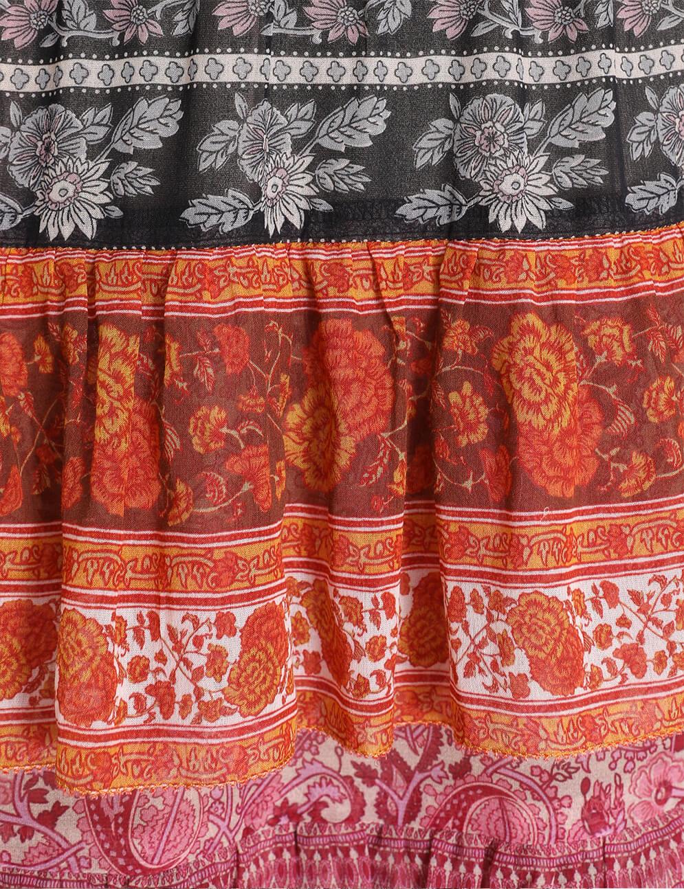 Amari Tiered Midi Skirt