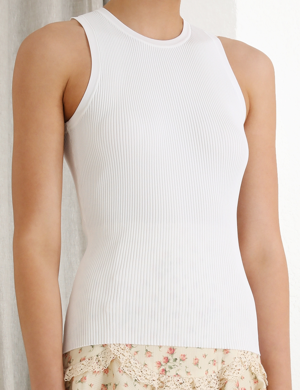 Peggy Racer Knit Tank