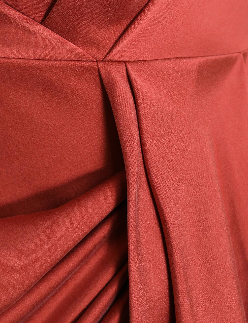 Espionage Silk Drape Dress