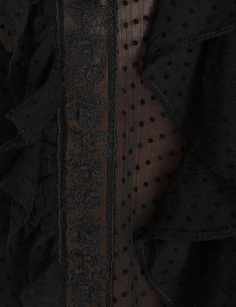 Sabotage Ruffle Lace Shirt