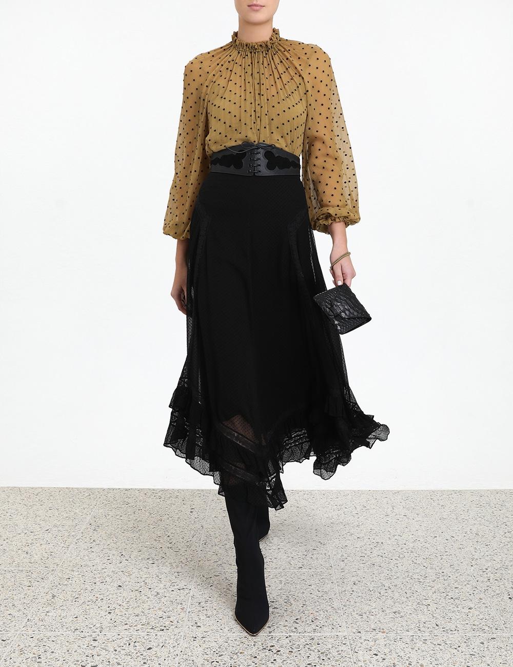 Sabotage Ruffle Lace Skirt