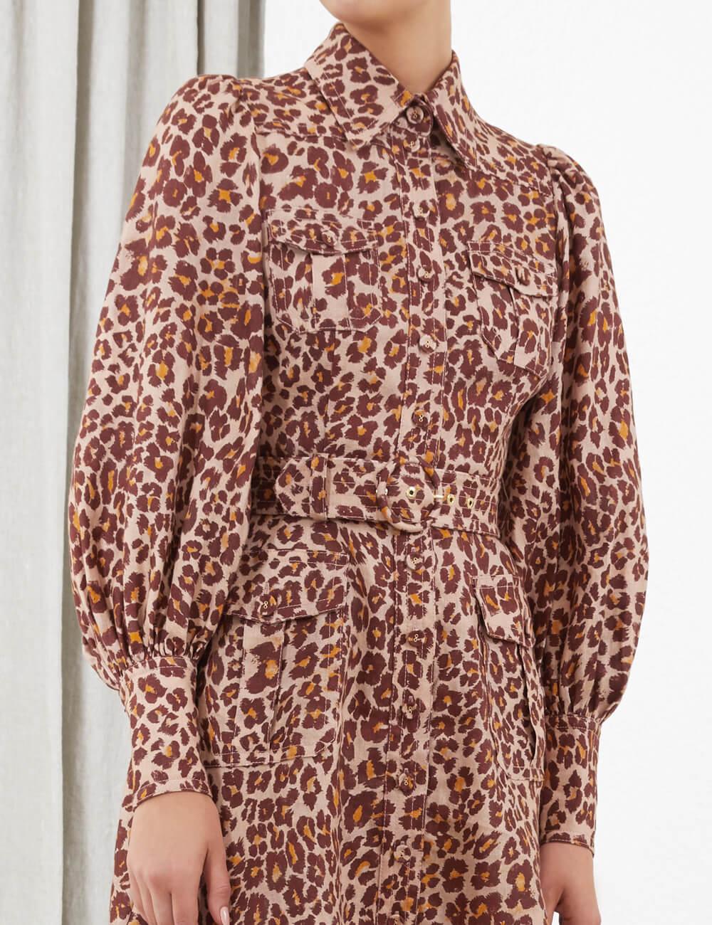 Resistance Safari Shirt Dress