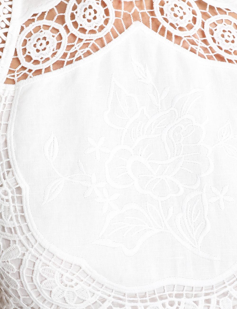 Bonita Crochet Embroidery Midi